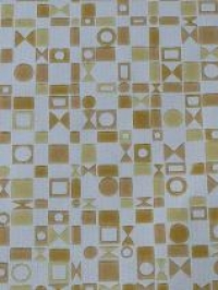 bruin beige blokjes en driehoekjes