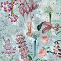 Luxebehang Tuin van Eden blauw