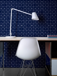 LAVMI behang Alphabet blauw