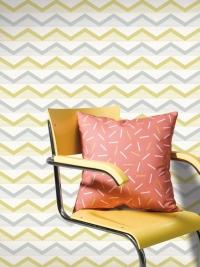 LAVMI behang Hills grijs en geel zigzag lijn horizontaal