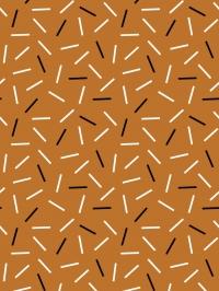 witte en zwarte streepjes op een bruine achtergrond