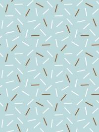 LAVMI behang Matches witte en bruine streepjes op een blauwe achtergrond