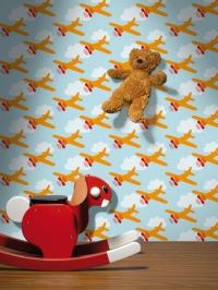 vliegtuig kinderbehang LAVMI