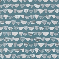 Miss Print behang Allsorts blauwgroen