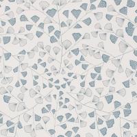 Miss Print behang Fern blauw wit