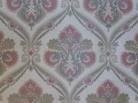 rood bruin grijs medaillon behang