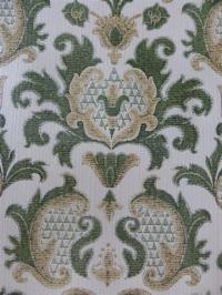 groen medaillon behang