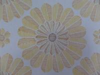 geel oranje bloemenbehang