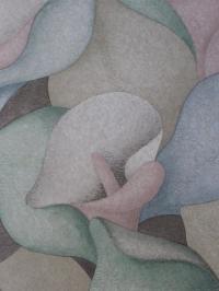 kelkbloemen in pastelkleuren