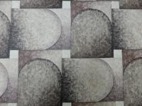 zwart bruin geometrisch behang met bollen