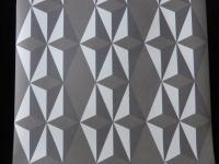 wit grijs geometrisch vliesbehang
