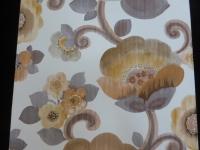 grijs bruin bloemen behangpapier