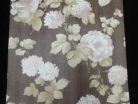bruine bloemen vintage behangpapier