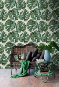 Tropische plant behangpapier