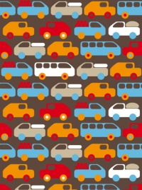 auto's bussen en vrachtwagens kinderbehang LAVMI Bruno
