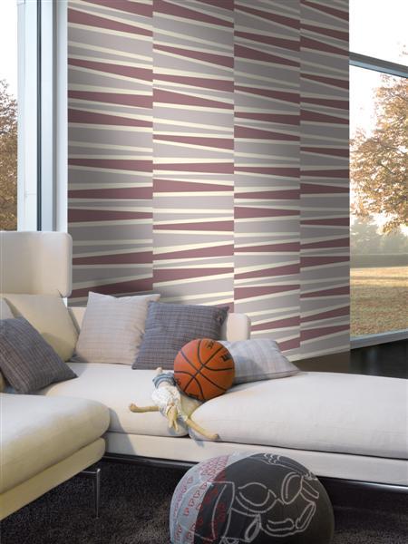 Paars grijs beige strepen funkywalls d webshop voor vintage en modern behang - Deco lounge grijs en beige ...