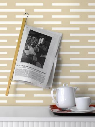 lignes blanc horizontale sur un fond beige - Funkywalls ...