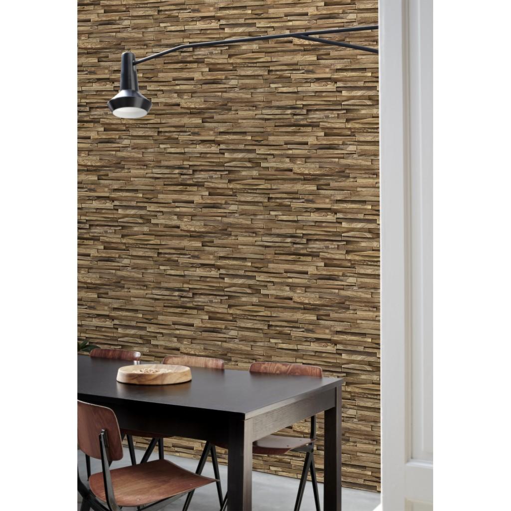 papier peint parement de bois exotique funkywalls d. Black Bedroom Furniture Sets. Home Design Ideas