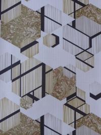 grijs beige zeshoeken met zwarte lijnen