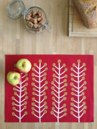 Herbs rood placemat 4x