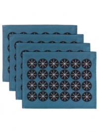 Sterren blauw placemat 4x