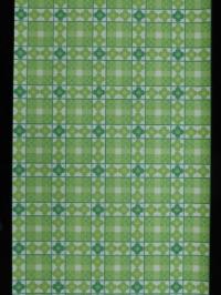 groene bloemen in een geometrisch patroon