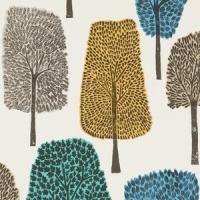 Scion Cedar behang grijs groen blauw