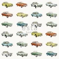 ESTA behang vintage auto's kleur