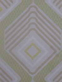 vintage behang geometrisch groen beige