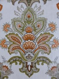 groen oranje medaillon behang
