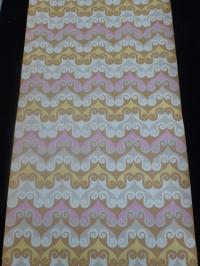 vintage behang geometrisch bruin roze