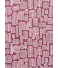 Miss Print wallpaper Little trees fuchsia