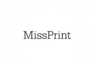Miss Print behang Fern wit zwart