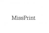 Miss Print behang kleine bomen beige