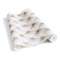 Gecapitonneerde beige stof behang