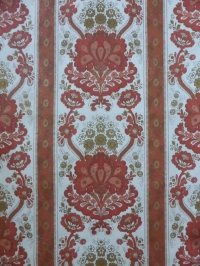 vintage medaillon behang rood