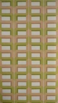 beige groen geometrisch patroon