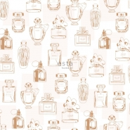ESTA behang parfumflesjes koper
