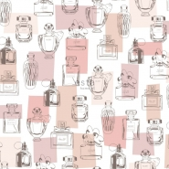 ESTA behang parfumflesjes roze