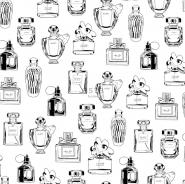 ESTA behang parfumflesjes zwart wit