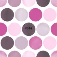 ESTA behang bolletjes roze grijs