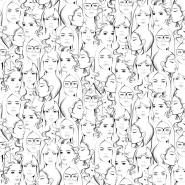 papier peint ESTA visages