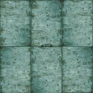 ESTA behang zinken platen groen