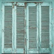 ESTA behang turquoise houten luiken