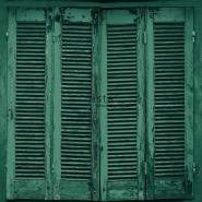 ESTA behang smaragd groen houten luiken