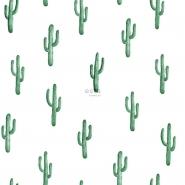 papier peint ESTA petites cactus vert émeraude