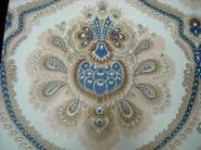 beige bruin blauw groot medaillon