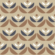 brown beige grey geometric flower