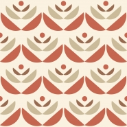 red beige geometric flower