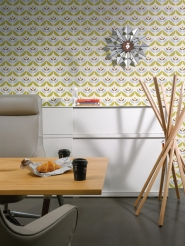 LAVMI wallpaper Cookies green blue geometric flower